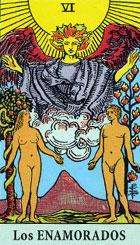 Innige Verbindung, Liebe im höchsten Ausmaß, eine harmonische Liebesbeziehung, starke Verbundenheit, Leidenschaft, Anziehungskraft, Reiz.  Man muss eine Entscheidung treffen in der man die Intuition und nicht den Intellekt nutzt. Es ist eine schwierige Entscheidung zu treffen, nicht unbedingt in Liebesdingen. Vielleicht so etwas wie ein Test. Es ist möglich dass man zwischen 2 Wegen (Personen) hin und hergerissen ist.