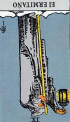 El Ermitaño es el guardián del tiempo. Es el sabio que ofrece sabiduría y la verdad conseguidas en la eternidad del conocimiento del pasado. Precaución o progreso espiritual, sensatez.<br><br> (Invertida) Temor, precaución excesiva, actos. <br><br> Sea prudente y no se lance con los ojos cerrados en las situaciones que está viviendo, ya que esta carta anuncia prudencia. <br><br> Invertida: Tendencia a la irreflexión a la imprudencia, a la avaricia, cierta misantropía, el ermitaño en poción inversa muestra además inmadurez, una confianza en si mismo injustificada que solo puede aportar fracasos.