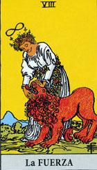 Gro�e Kraft und St�rke, Mut, Energiereserven, innere geistige Kraft, Selbstvertrauen, gute k�rperliche Konstitution u.a.  Die Macht der Liebe, die �ber den Hass triumphiert; Kontrolle der niederen Instinkte und Leidenschaften. Es werden Hindernisse auftreten, die du aber mit Moral, G�te und Willen �berwindest. Eine Freundin steht dir mit Rat und Tat zur Seite.